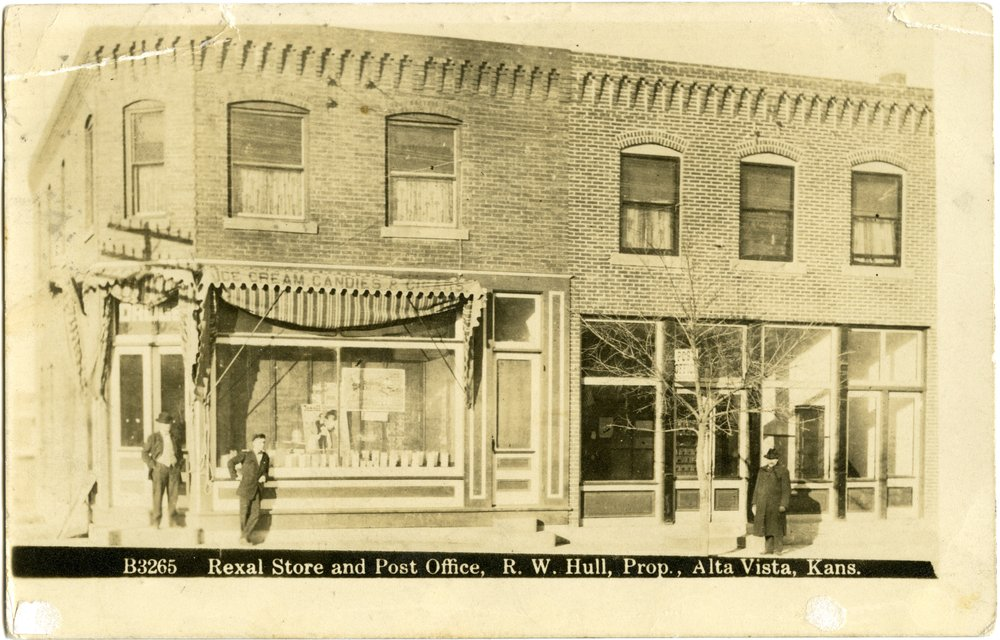 Rexall Drug Store and Post Office, Alta Vista, Kansas - 2