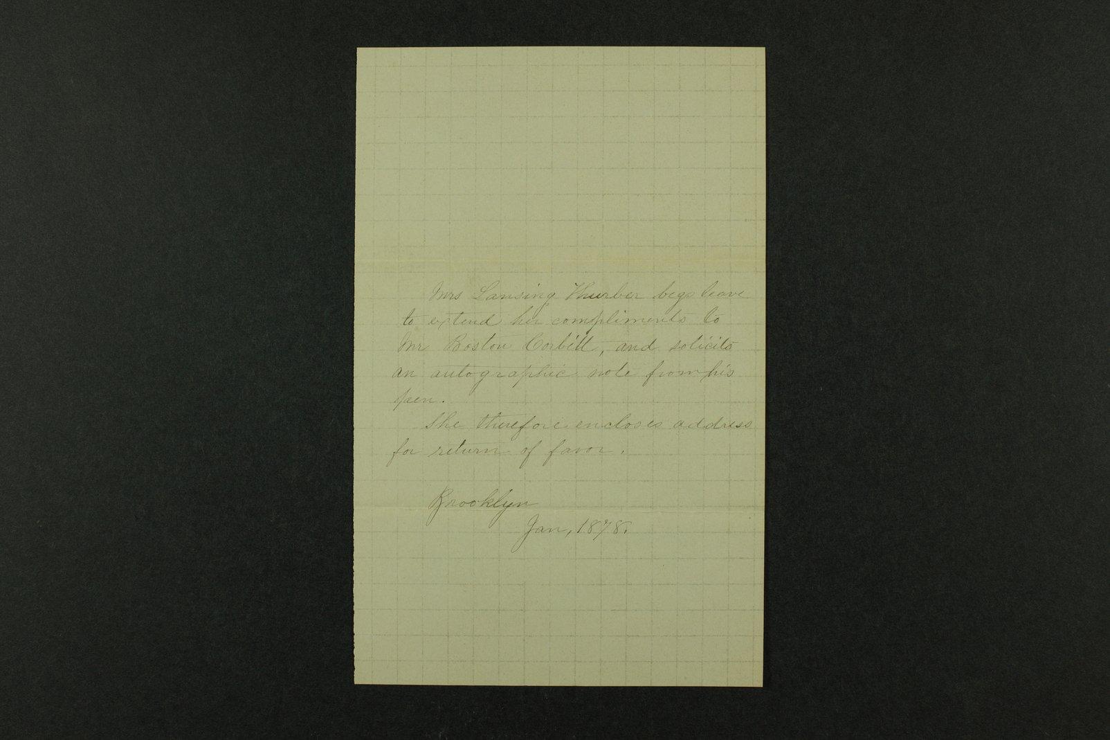 Boston Corbett correspondence - 4