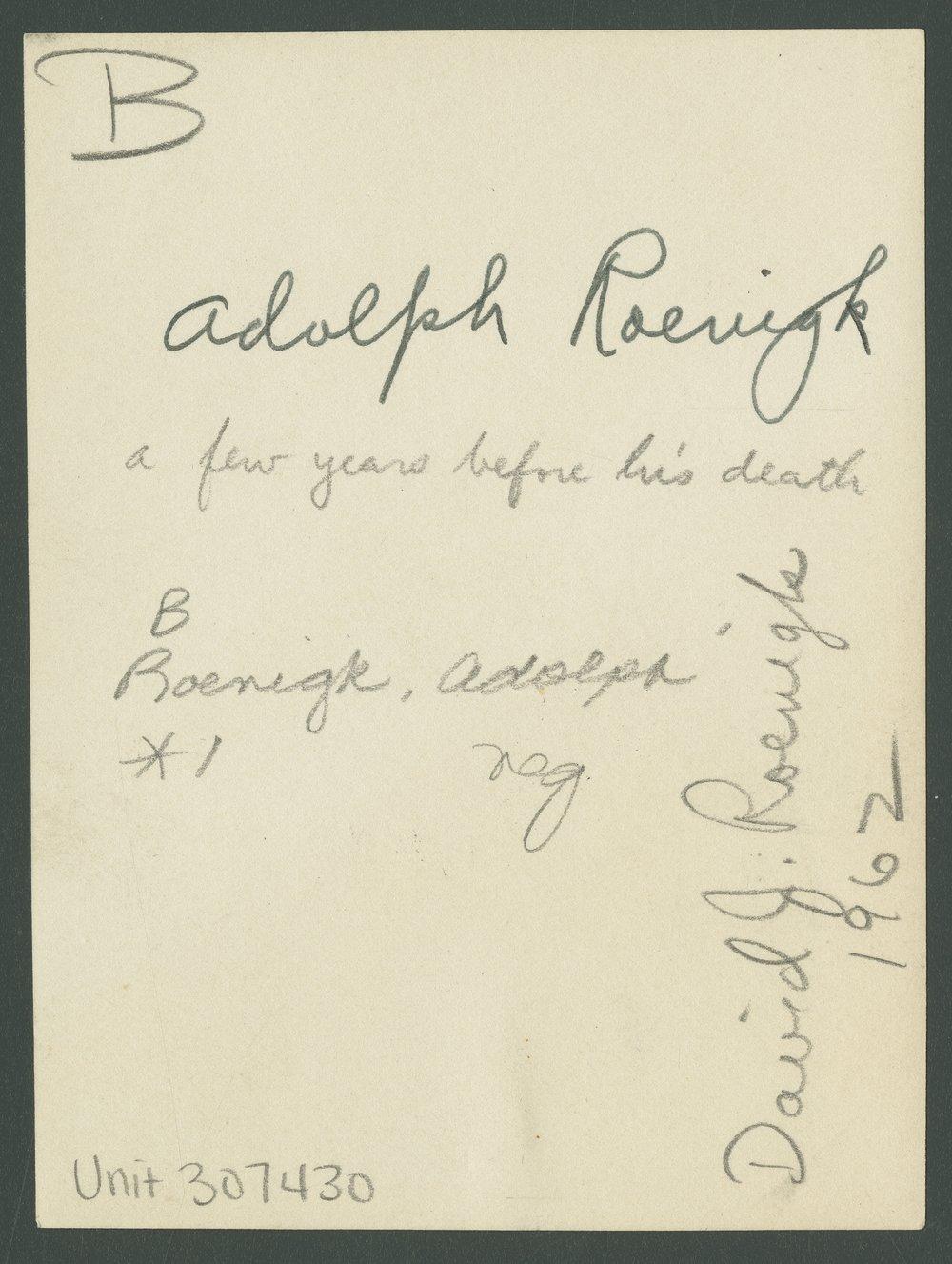 Adolph Roenigk - 2