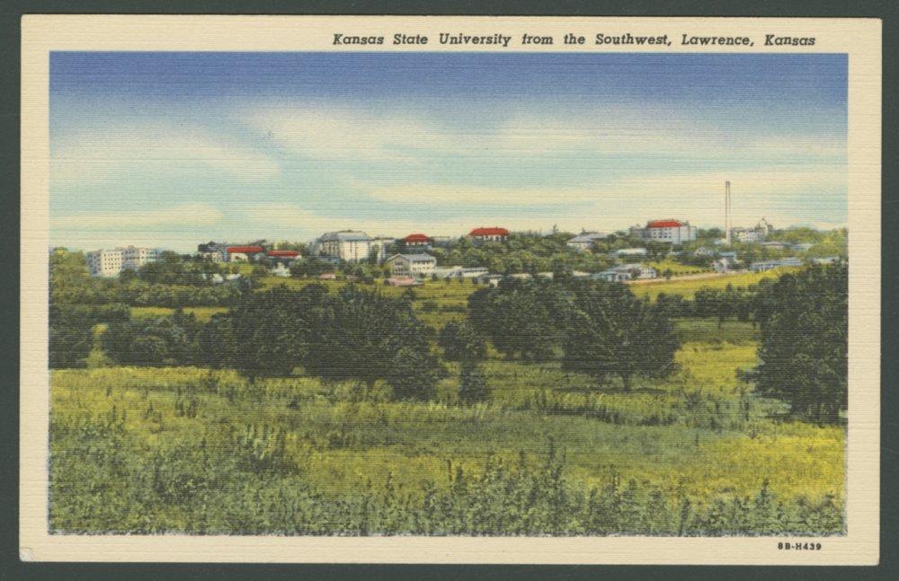 University of Kansas from the southwest, Lawrence, Kansas - 1