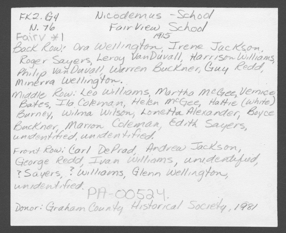 Fairview School, Nicodemus, Kansas - 2