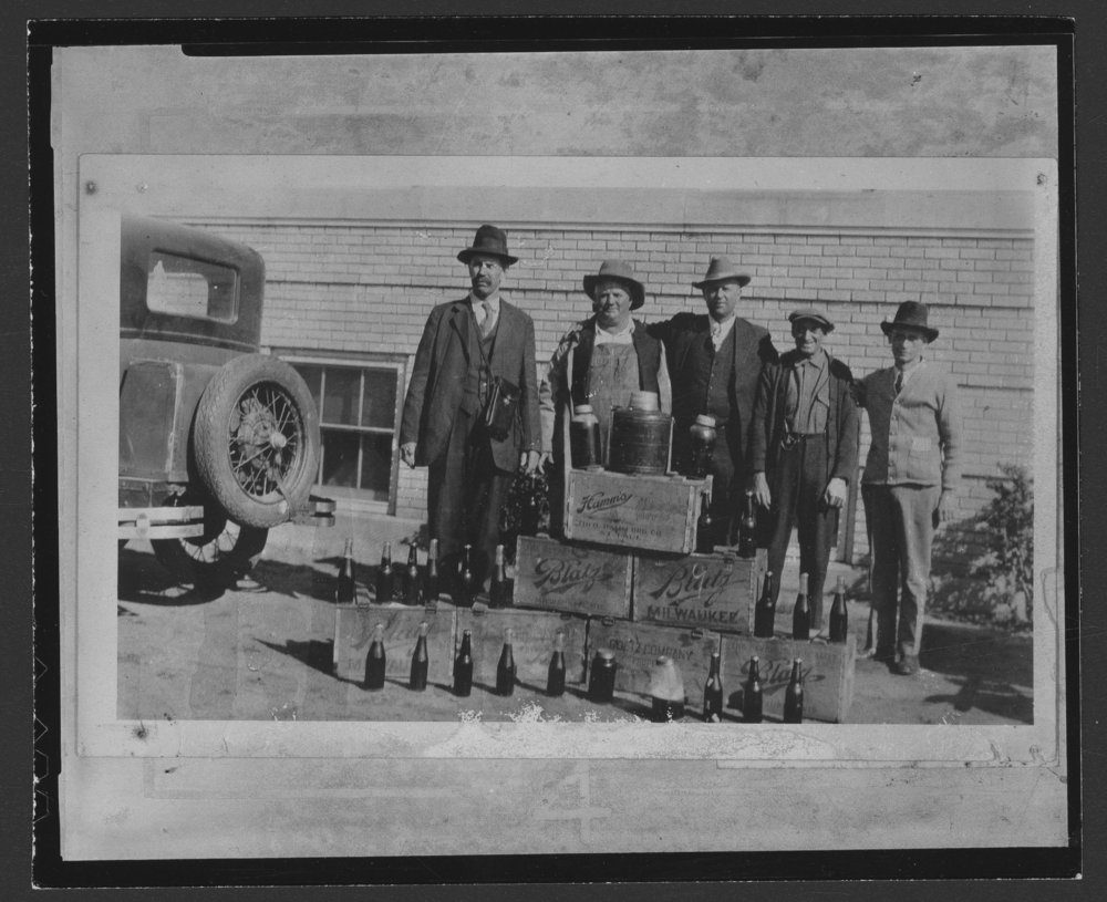 Confiscated liquor, Coldwater, Kansas - 1