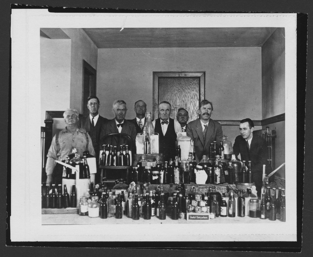 Confiscated liquor, Coldwater, Kansas - 3
