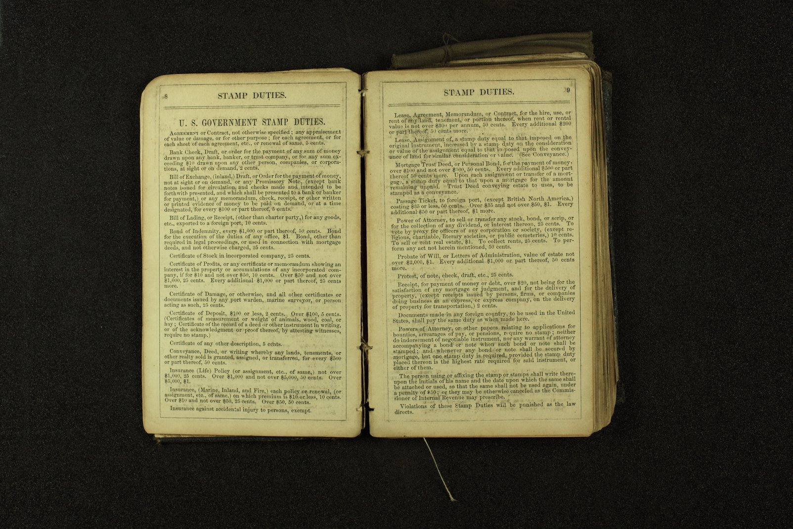 Clergyman's pocket diary and visiting book belonging to Boston Corbett - 8 & 9
