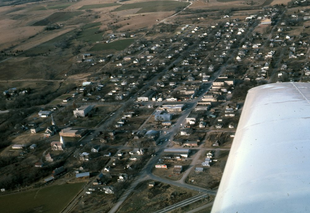 Charles Herman photograph collection - Aerial view of Alma, Kansas.