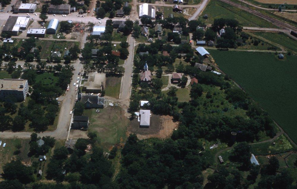 Charles Herman photograph collection - Aerial view of Alma, Kansas.