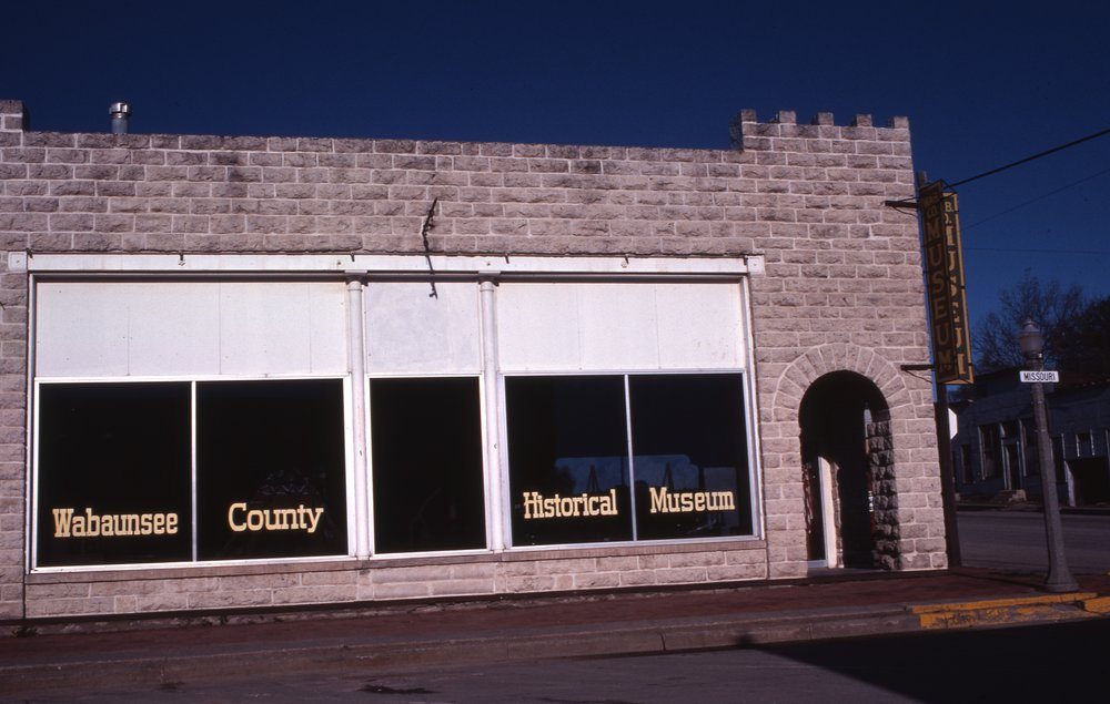 Charles Herman photograph collection - View from the east of the Wabaunsee County Historical Society in Alma, Kansas.