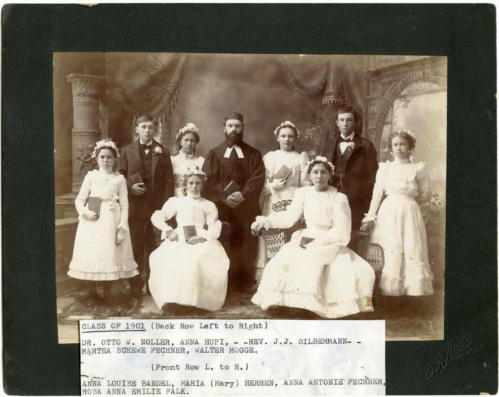 Gus Meier photograph collection - Alma Catholic School Class of 1901
