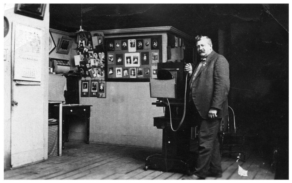 Gus Meier photograph collection - Gus Meier in his photograph studio.