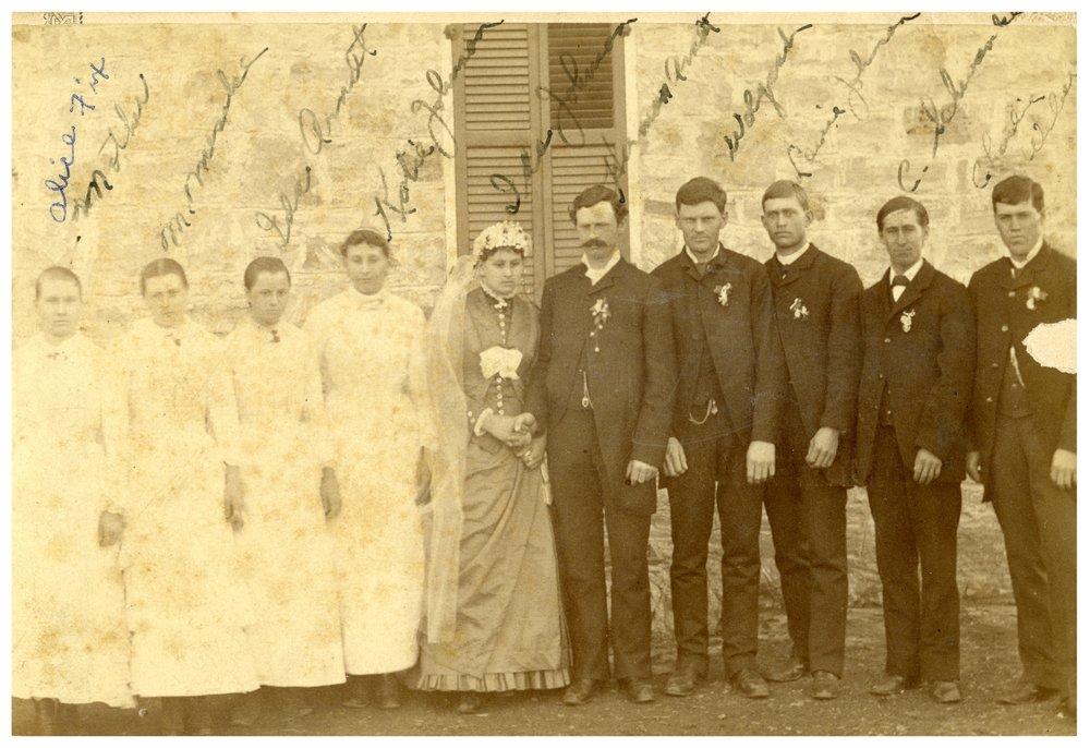 Wedding party at Volland, Kansas