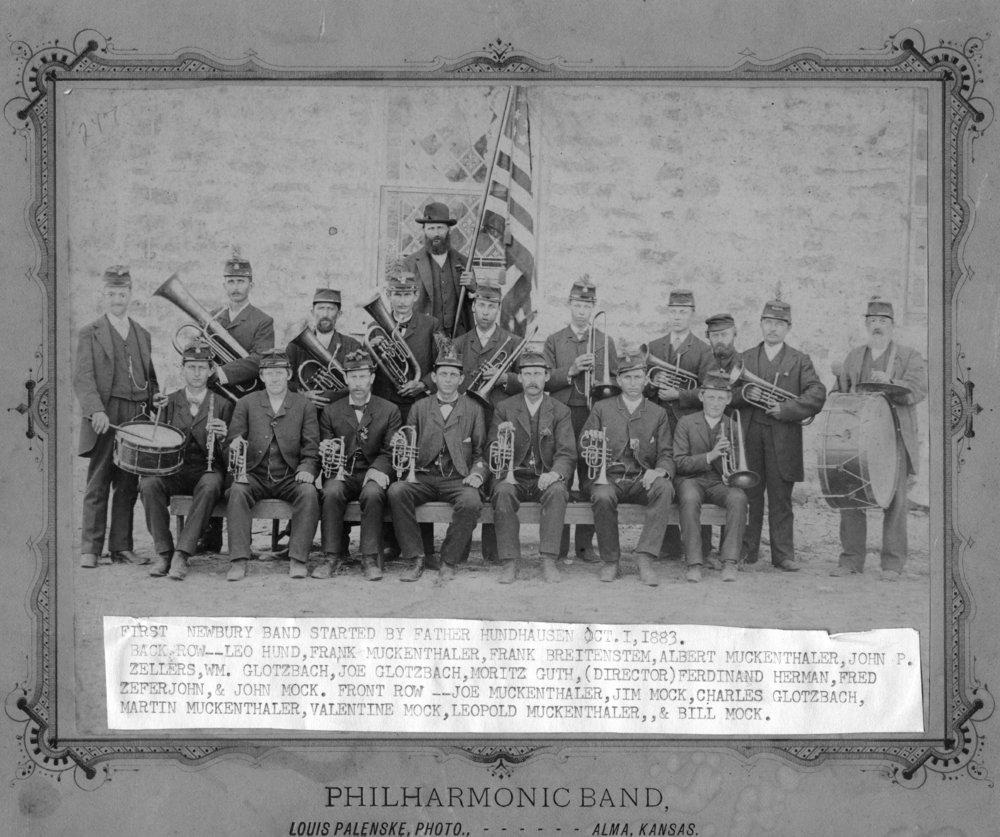 Philharmonic band in Newbury, Kansas