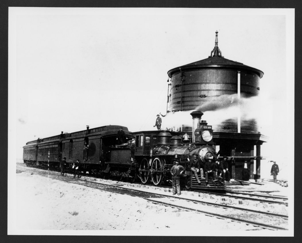 Atchison, Topeka & Santa Fe Railway Company's steam locomotive #28 - 1