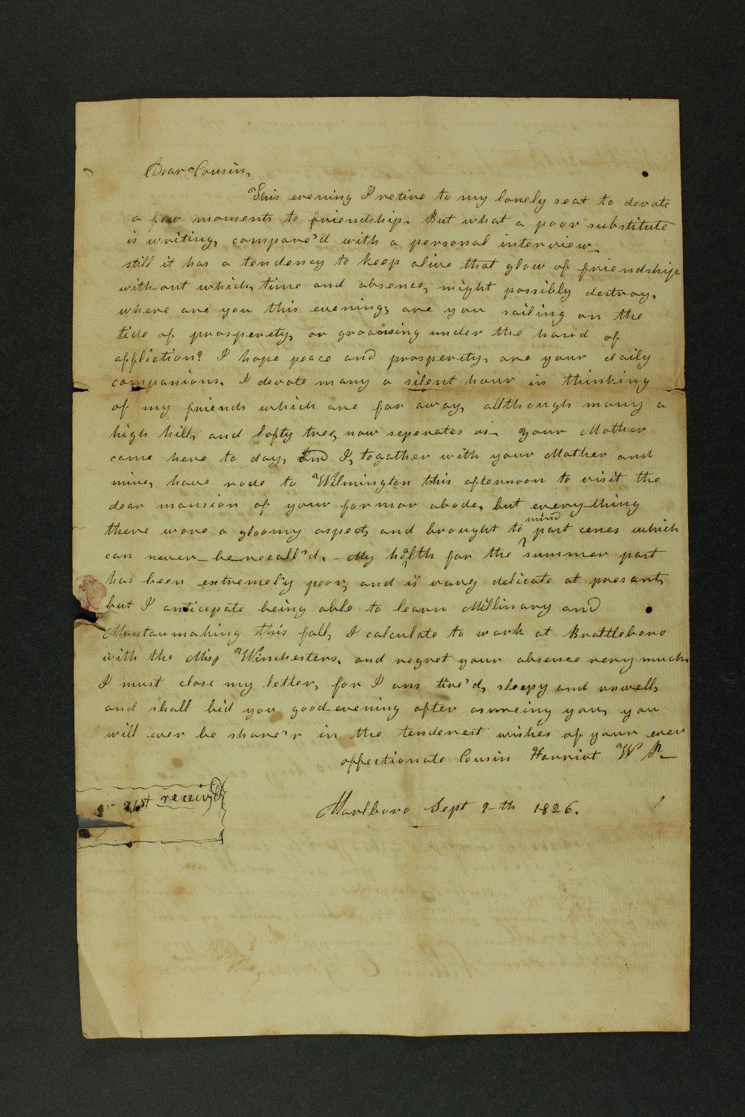 Isaac Goodnow correspondence - 1  [Box 1, Folder 1]