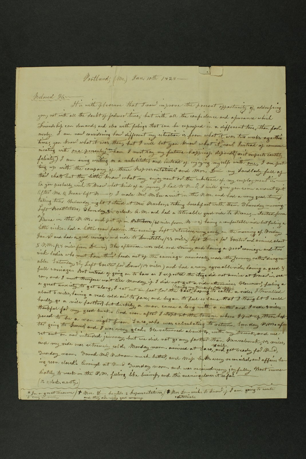 Isaac Goodnow correspondence - 1  [Box 1, Folder 2]