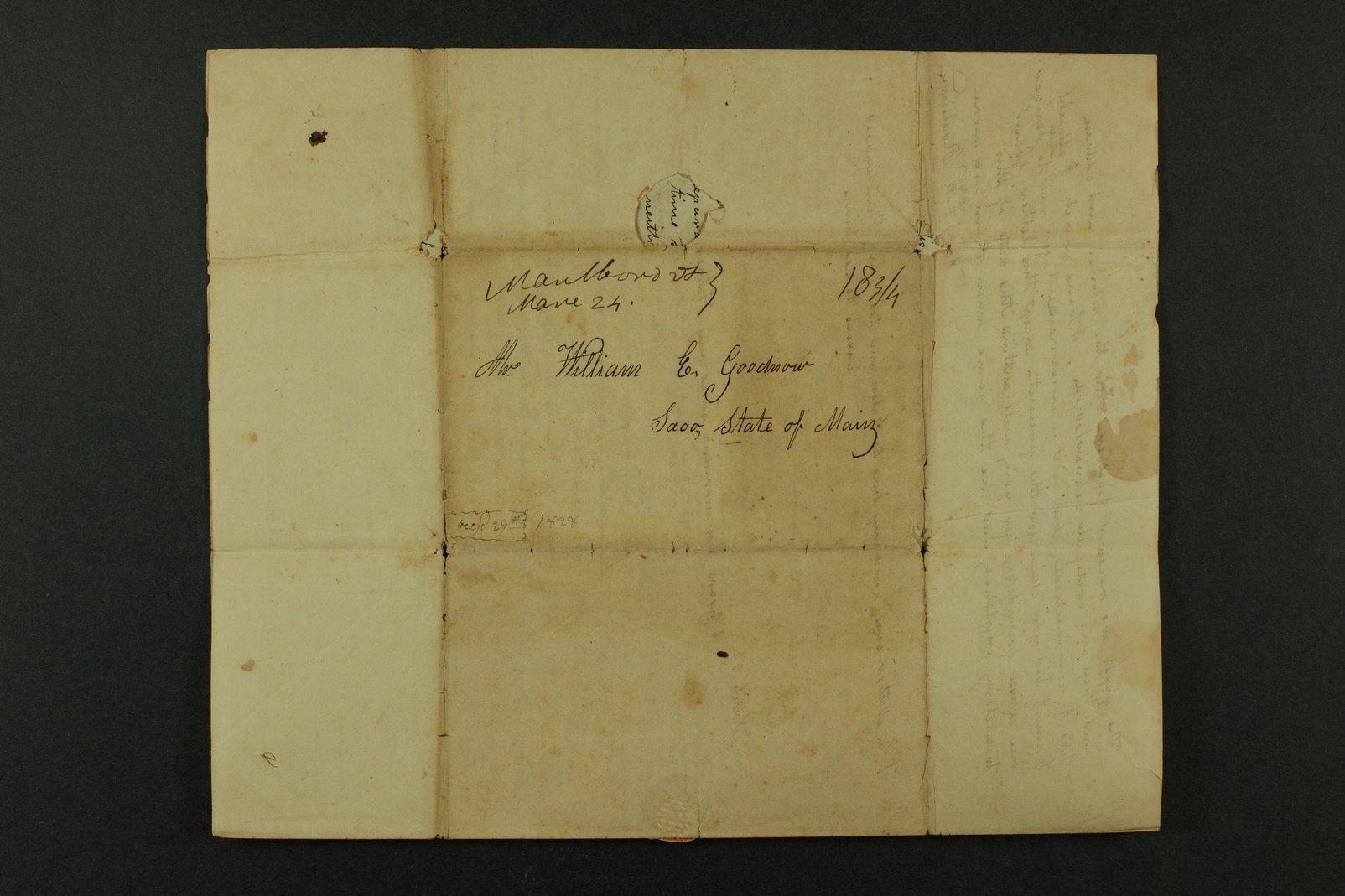 Isaac Goodnow correspondence - 8