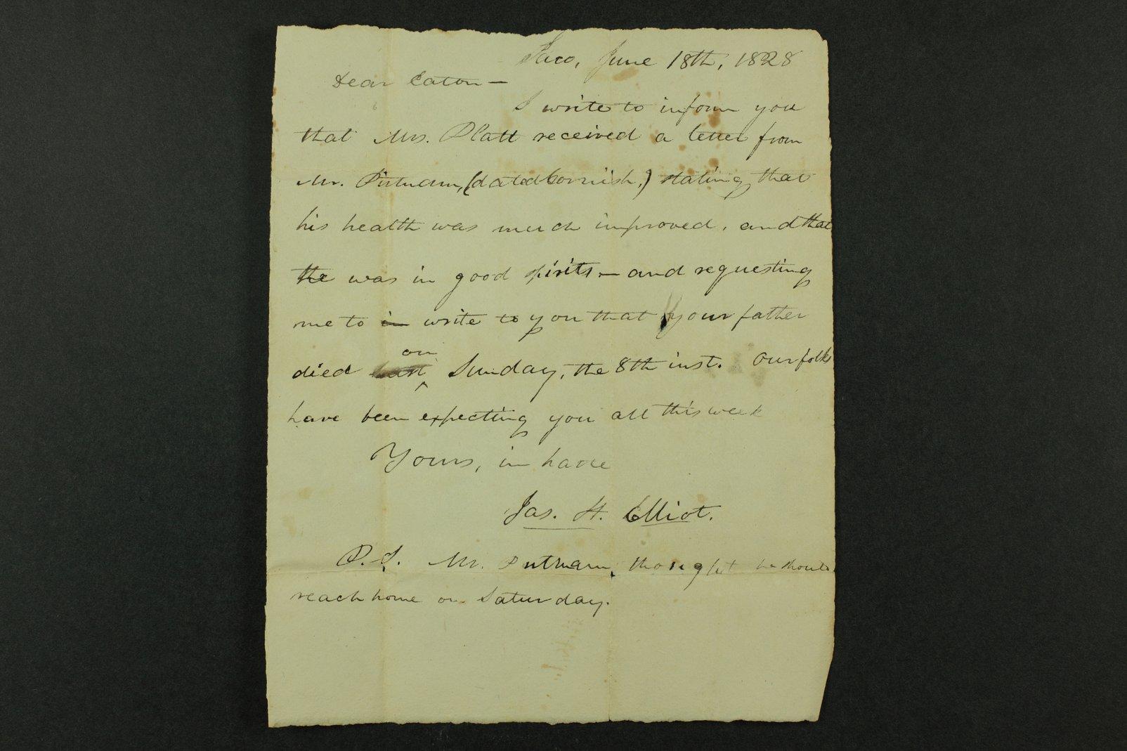 Isaac Goodnow correspondence - 9