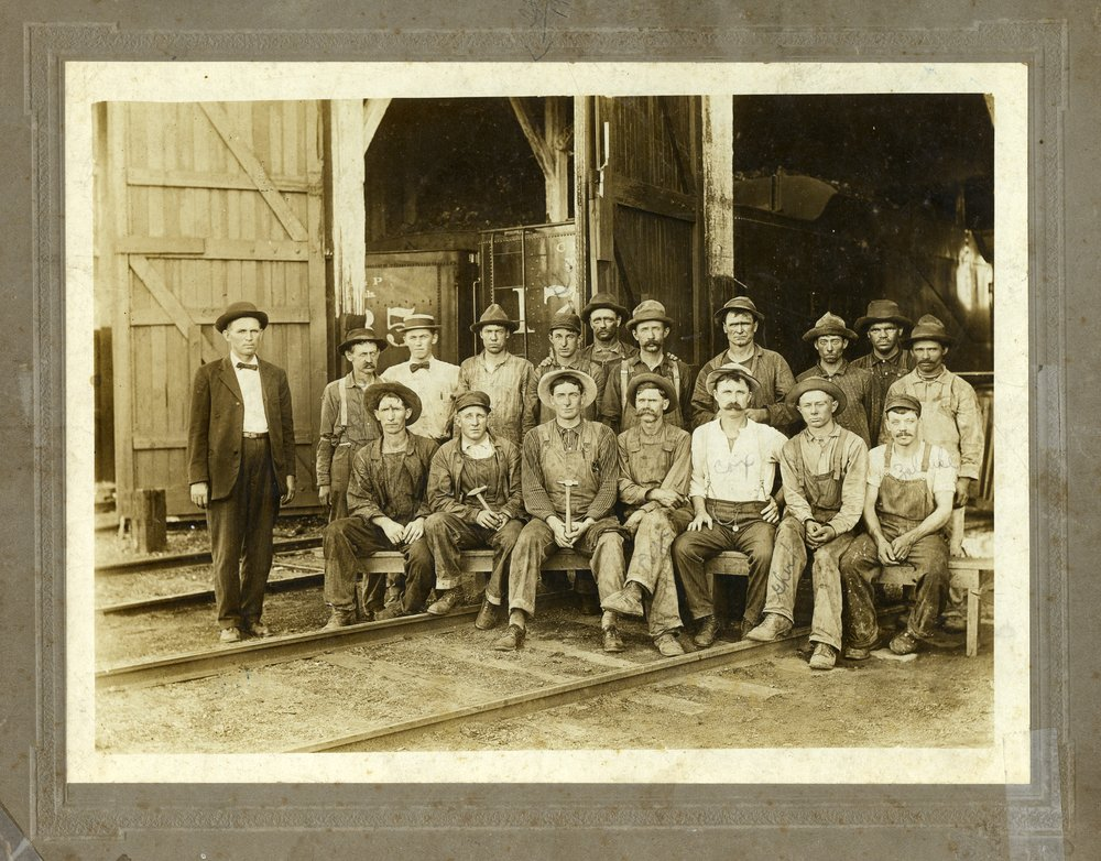 Chicago, Rock Island and Pacific Railway roundhouse gang in McFarland, Kansas - 1