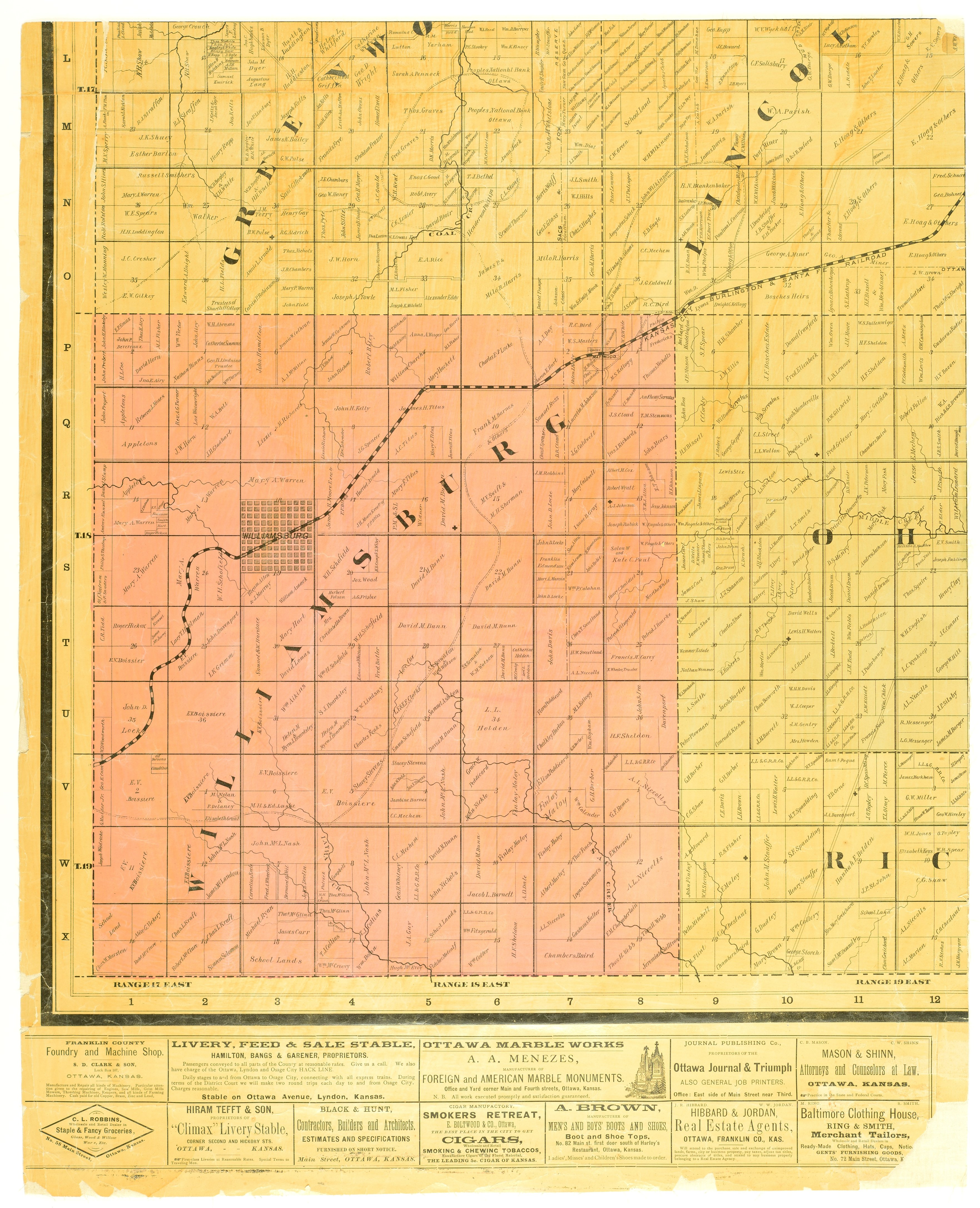 Map of Franklin County, Kansas / compiled by Leonard F. Shaw & G. D. Stinebaugh - 4