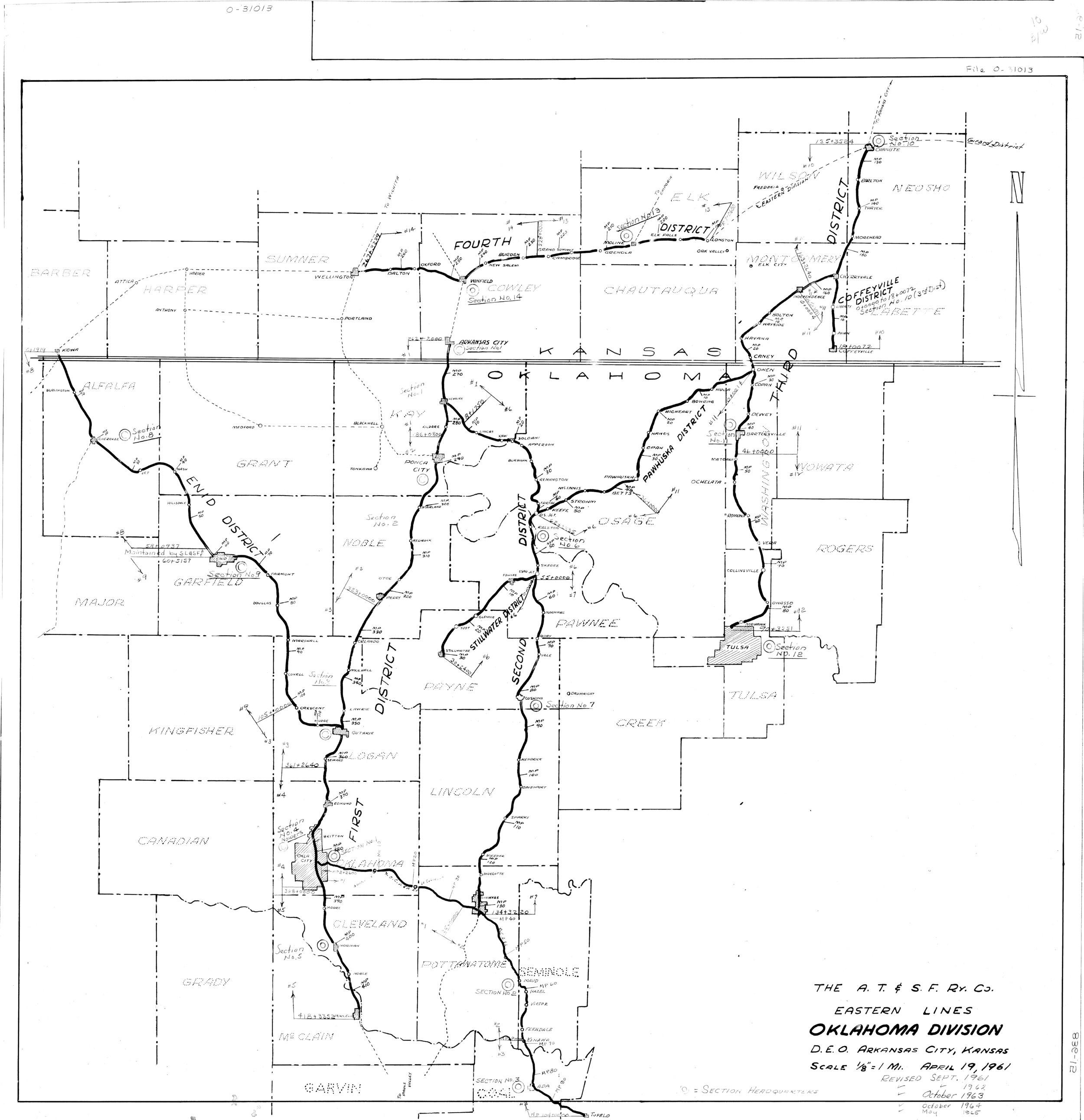 Atchison, Topeka & Santa Fe Railway Eastern Lines, Oklahoma Division