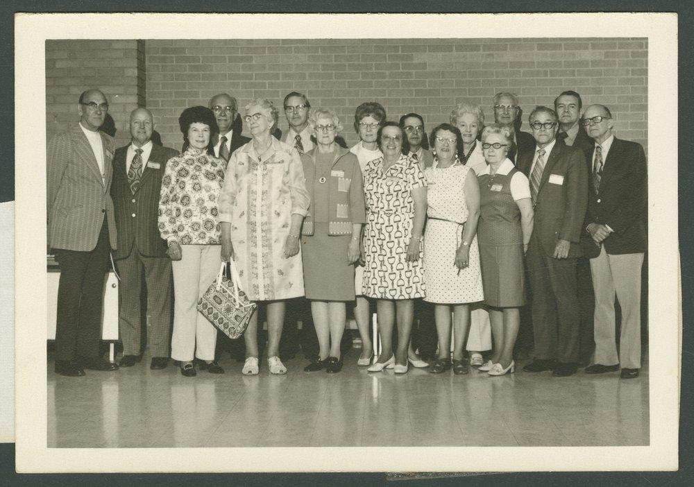 50th reunion of the 1933 McPherson College graduating class in McPherson, Kansas - 1
