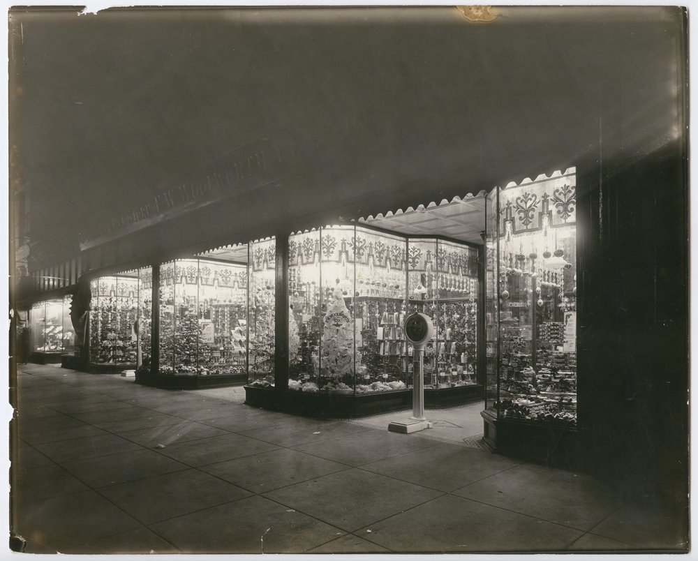 Christmas decorations at the F. W. Woolworth Company store in Topeka, Kansas - 1