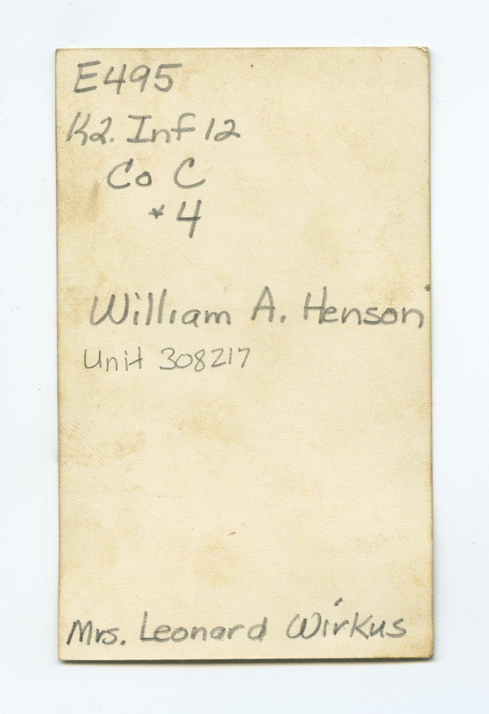 William A. Henson - 2