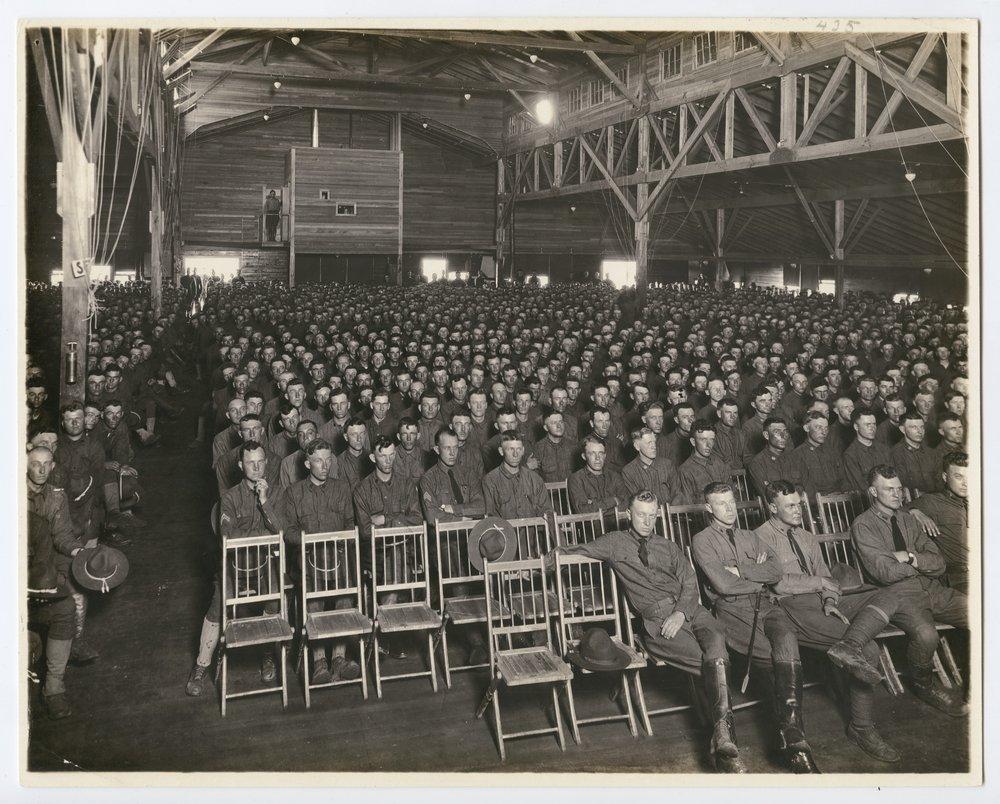 Y.M.C.A. auditorium at Camp Funston, Kansas - 1