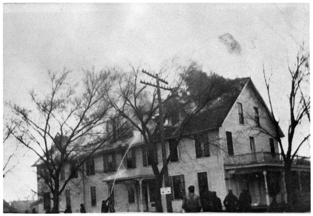 Denver House hotel on fire in McFarland, Kansas - 1