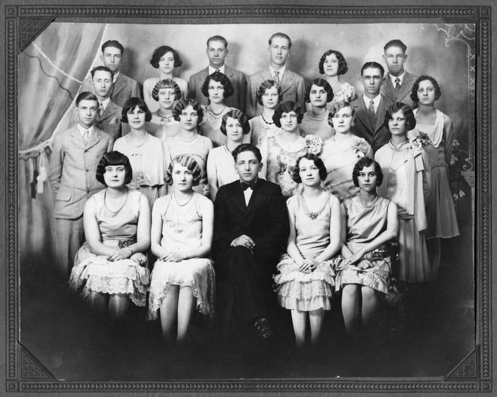 Alma High School Senior Class of 1928 - 1