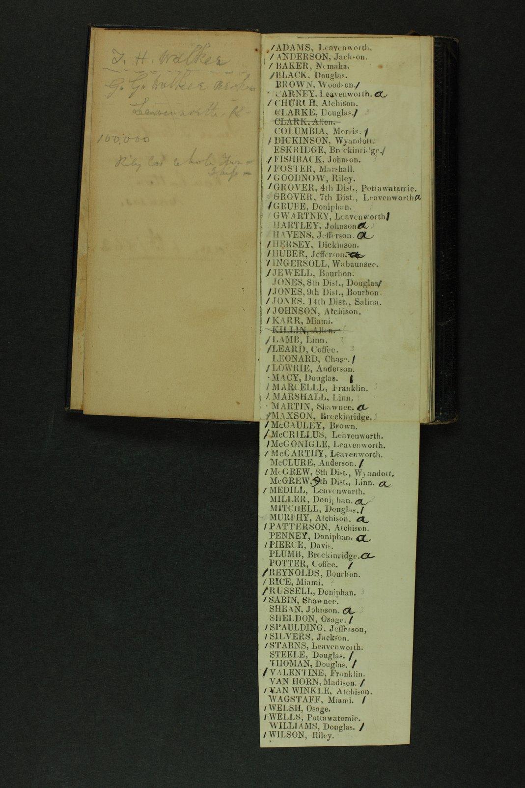 Isaac Tichenor Goodnow diary - 5  [Insert]