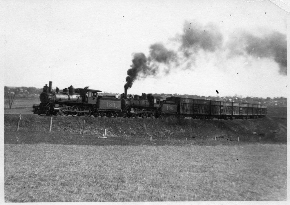 Atchison, Topeka and Santa Fe cattle train, Eskridge, Kansas