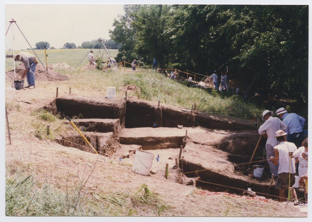 Kansas Archeology Training Program field school at  Fort Ellsworth - 1