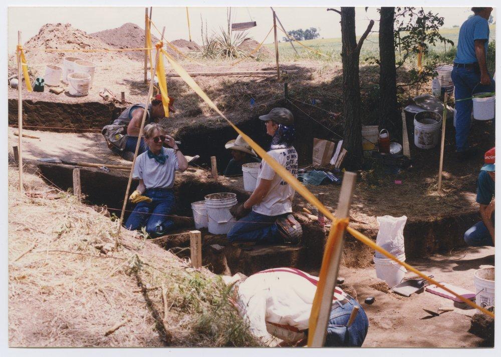 Kansas Archeology Training Program field school at  Fort Ellsworth - 3