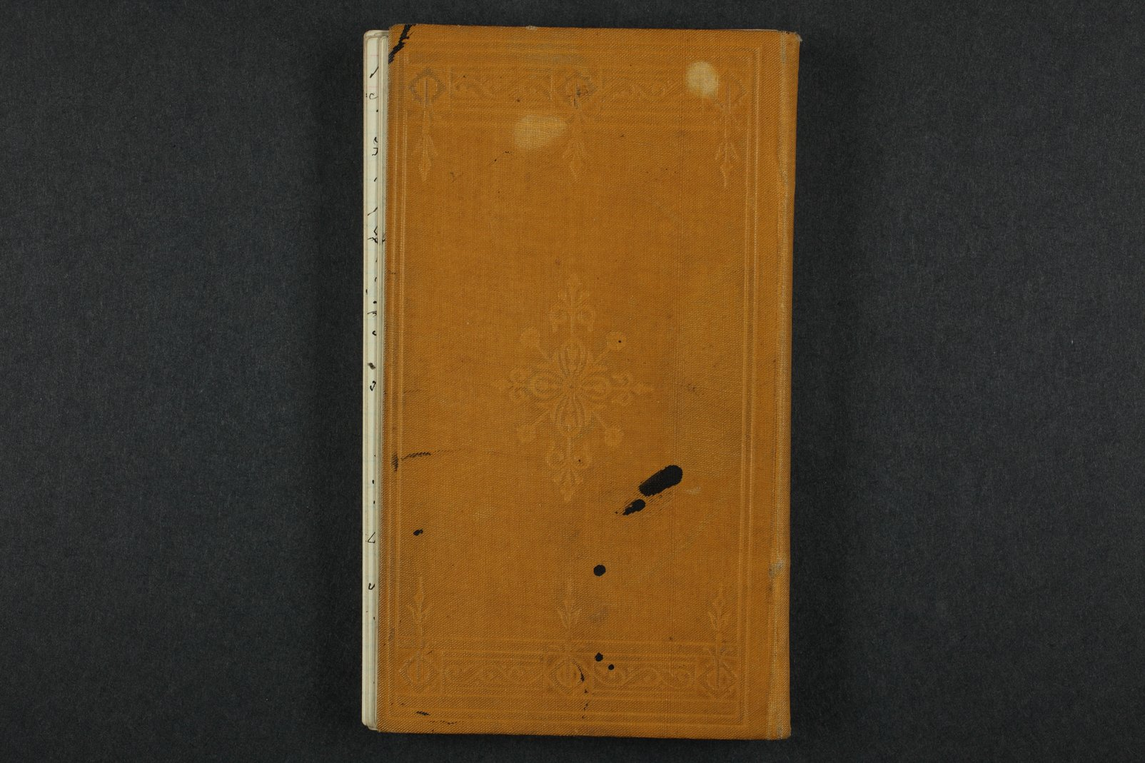 Isaac Tichenor Goodnow diary - 131  [Back cover]