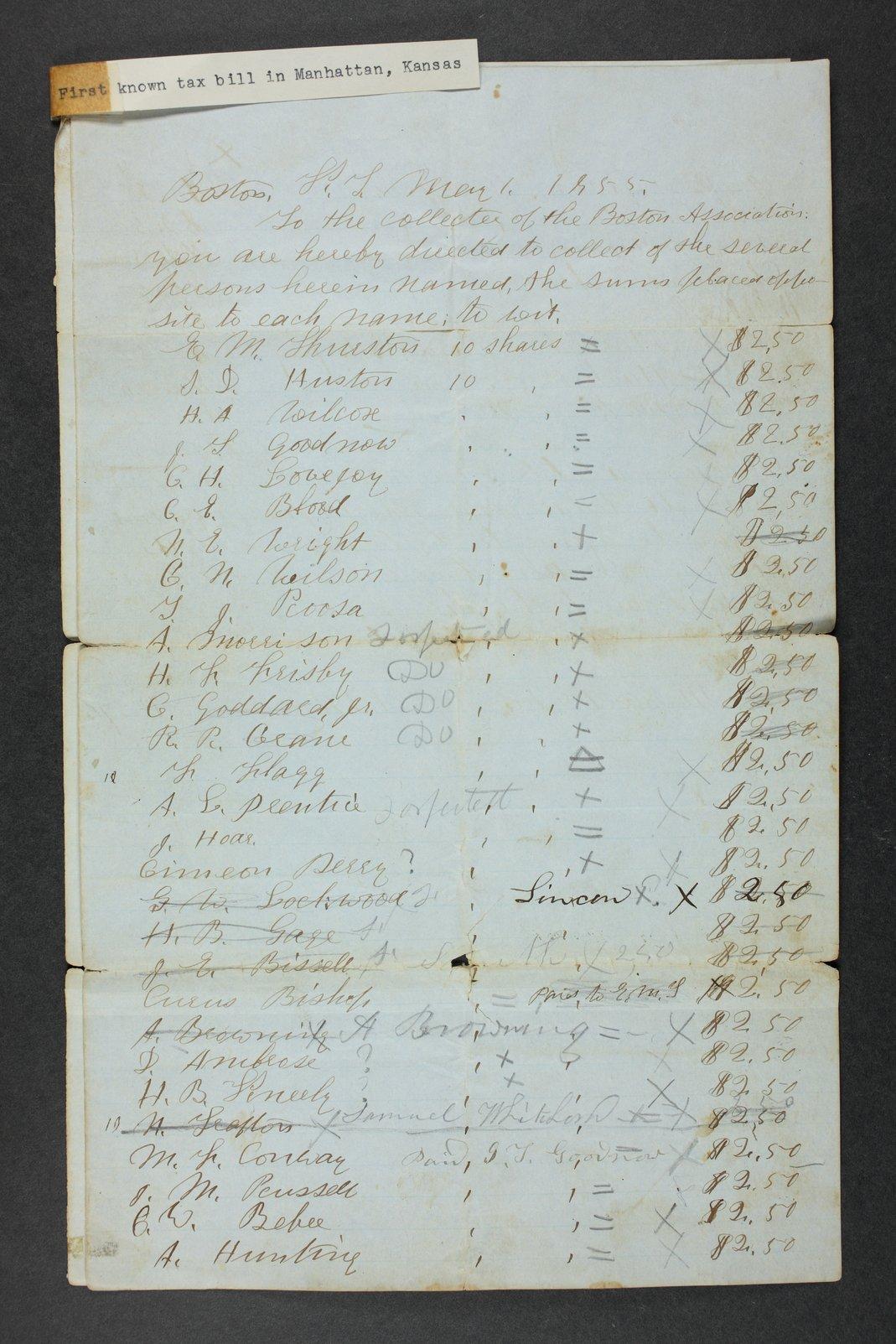 Manhattan Town Association records - 1