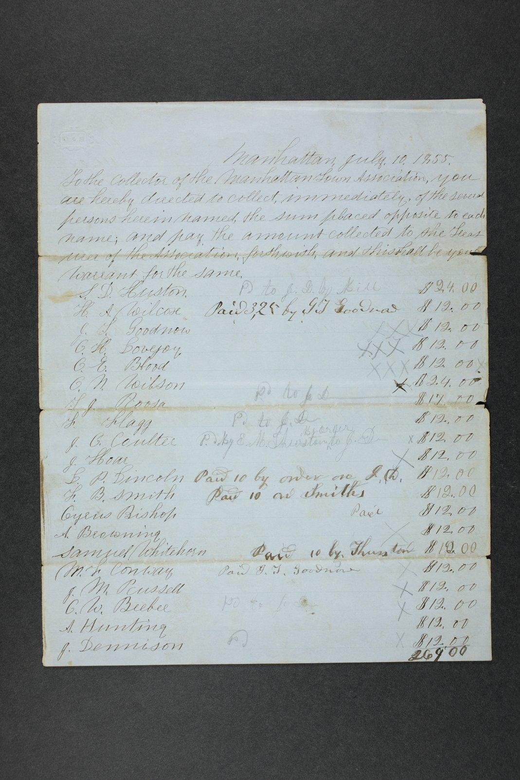 Manhattan Town Association records - 5