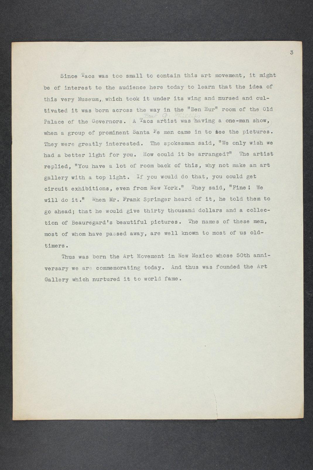 Robert Taft correspondence related to frontier artists, Blumenshein - Cary - 10