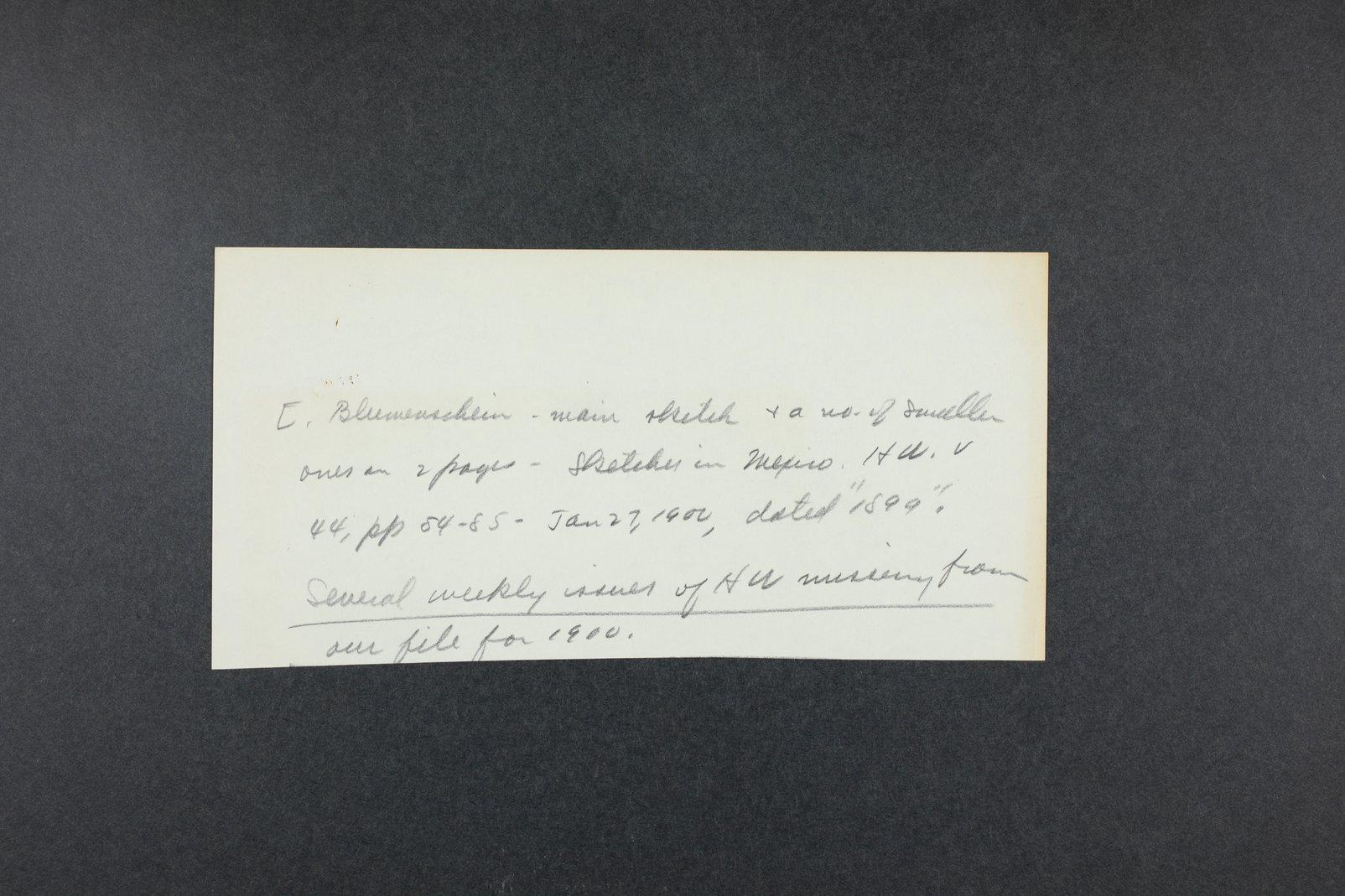 Robert Taft correspondence related to frontier artists, Blumenshein - Cary - 11