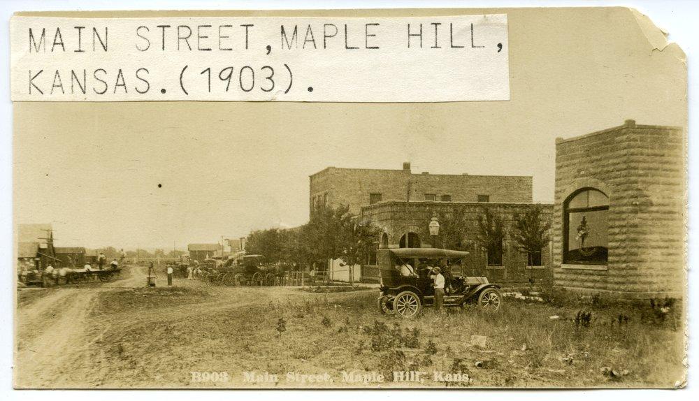 Main Street in Maple Hill, Kansas - 1