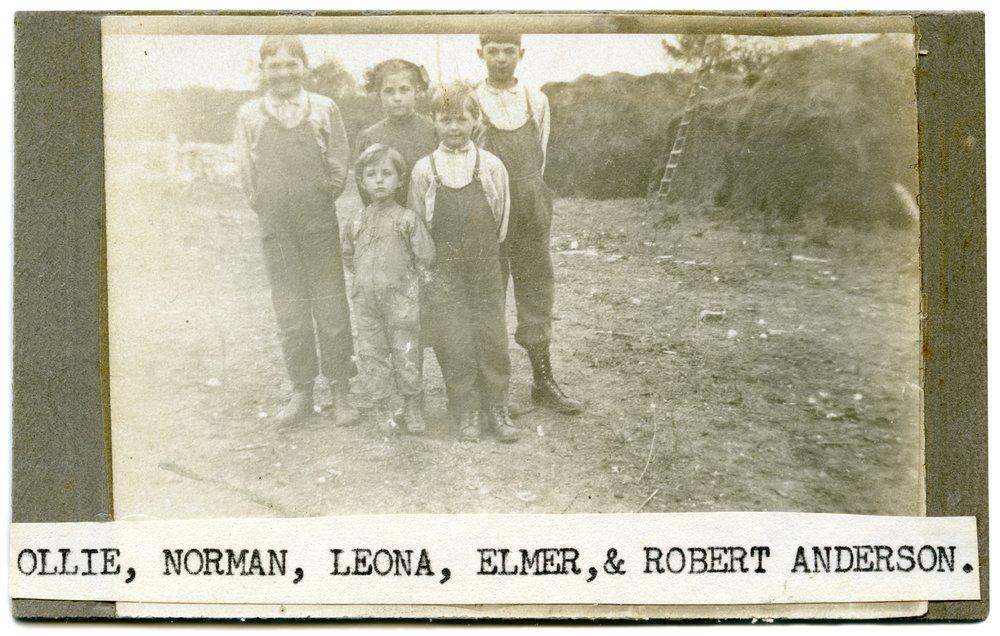 Anderson children, Alma, Kansas