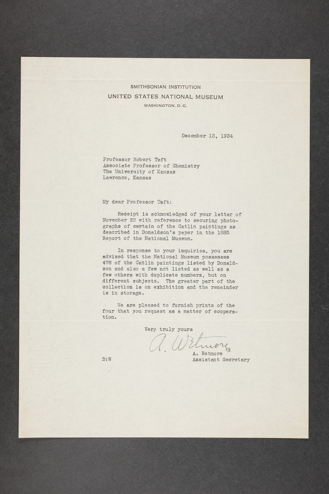 Robert Taft correspondence related to frontier artists, Catlin - Deming - 1  [Folder 1, George Catlin]
