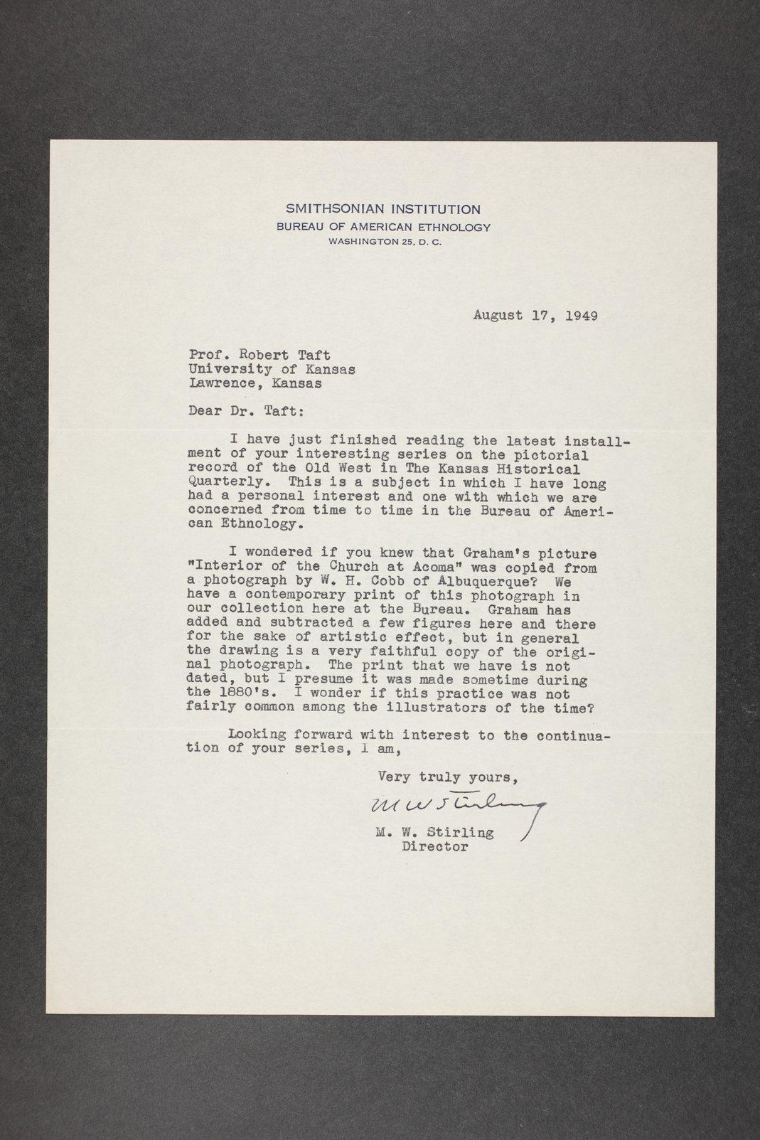 Robert Taft correspondence related to frontier artists, Catlin - Deming - 9
