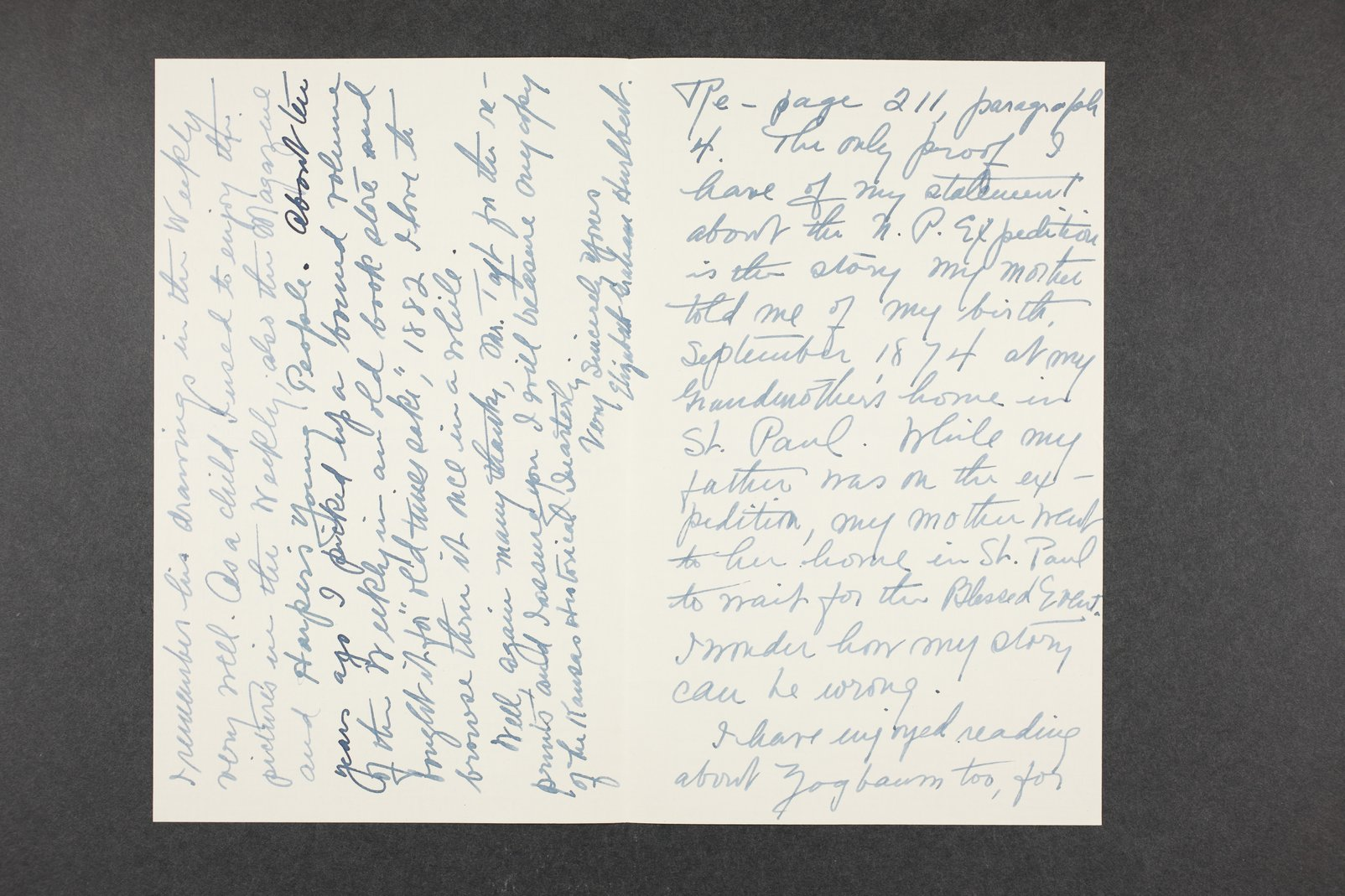Robert Taft correspondence related to frontier artists, Catlin - Deming - 11