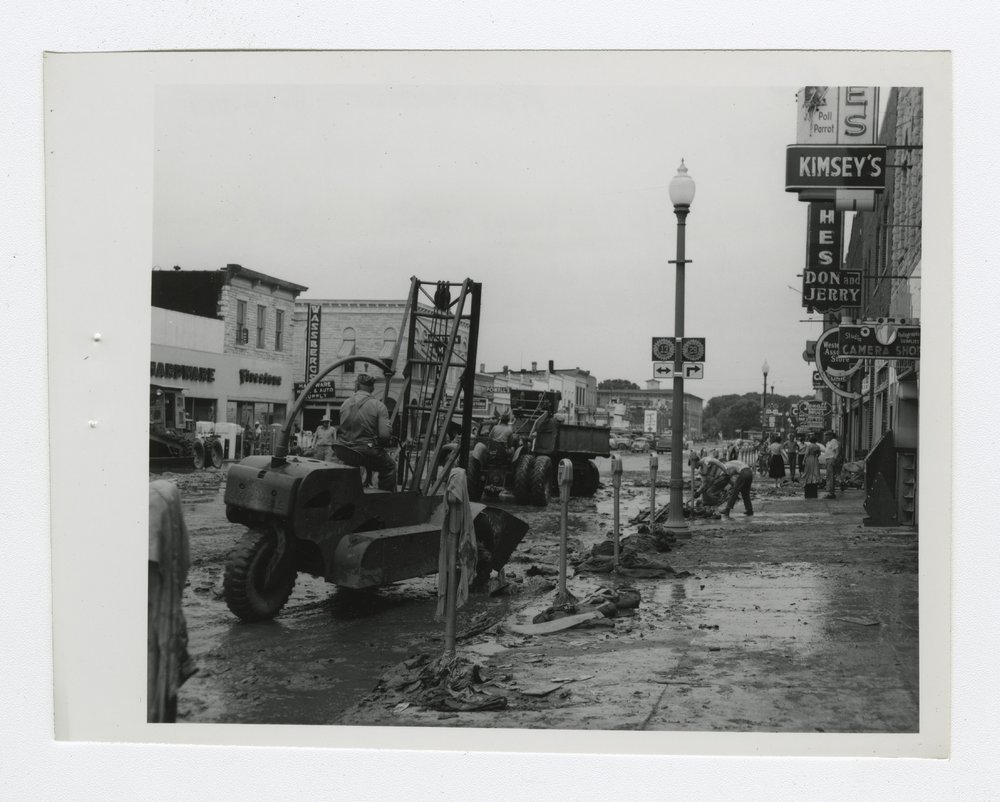 1951 flood scenes in Manhattan, Kansas - 11