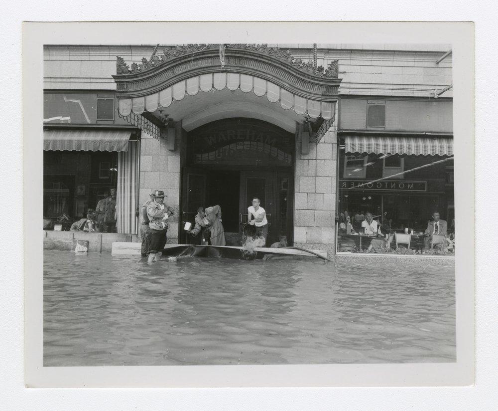 1951 flood in Manhattan, Kansas - 5 [Wareham Hotel on Poyntz Avenue]