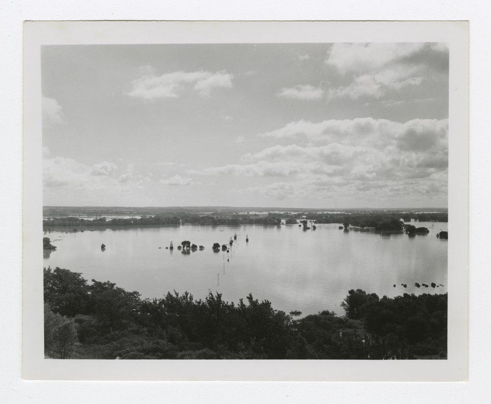 1951 flood in Manhattan, Kansas - 1 [Looking east from Manhattan]