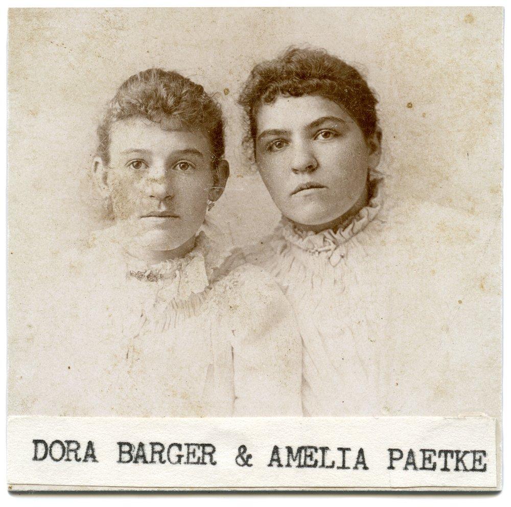 Dora Barger and Amelia Paetke