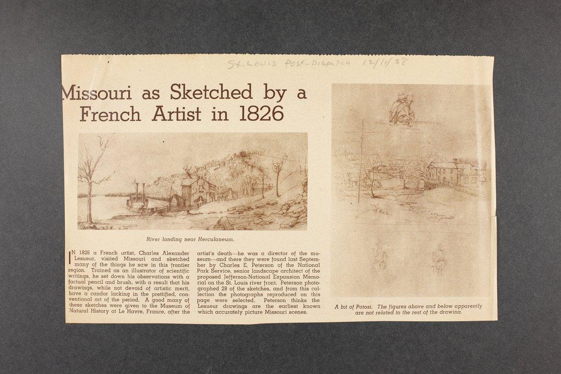 Robert Taft correspondence related to frontier artists, Landers - Metcalf - 2