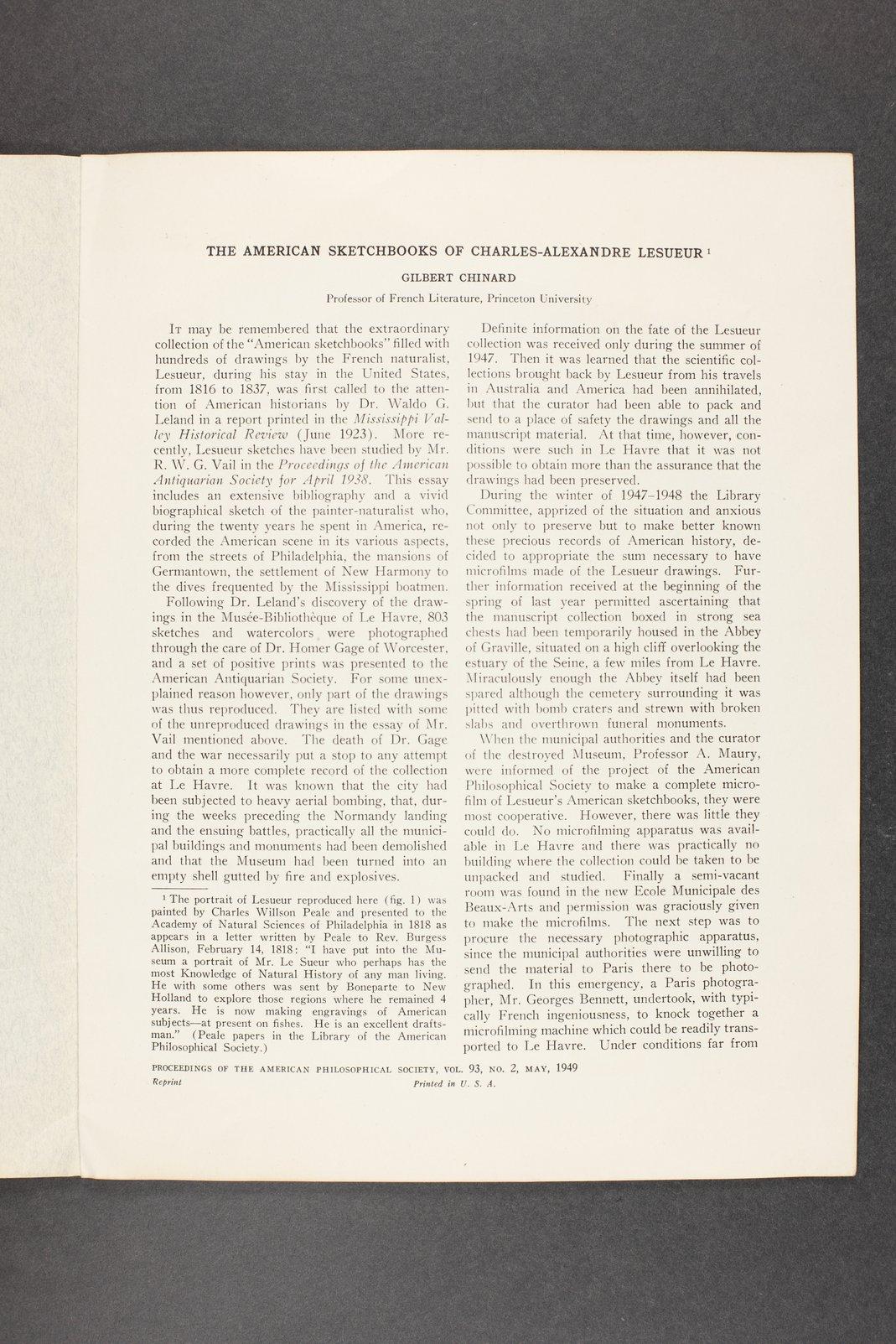Robert Taft correspondence related to frontier artists, Landers - Metcalf - 6