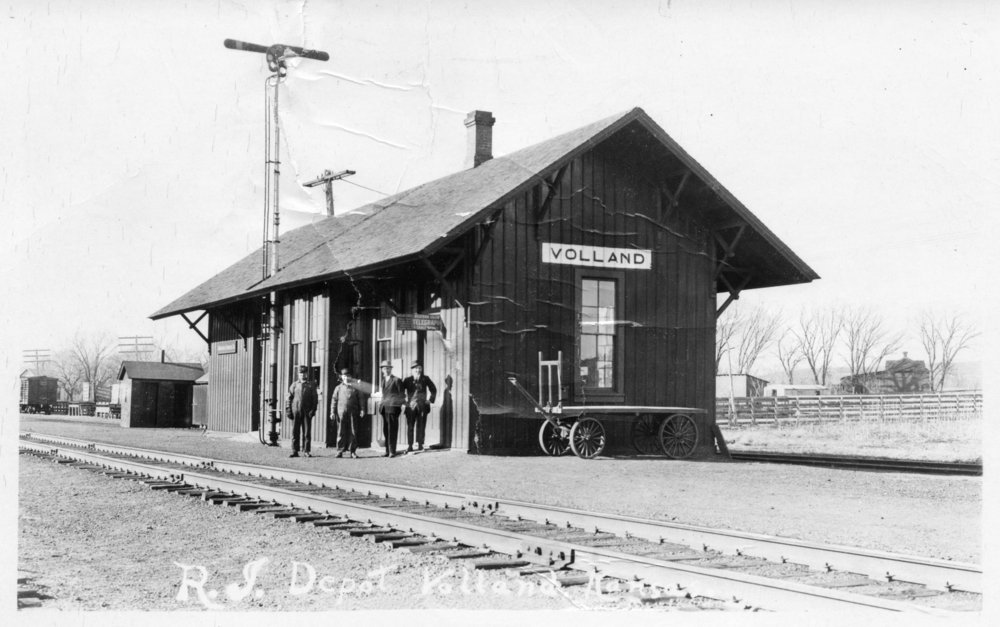Chicago, Rock Island & Pacific Railway depot, Volland, Kansas